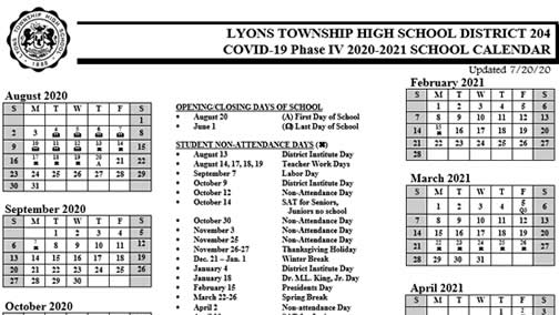 Lyons Township High School District 204 Homepage