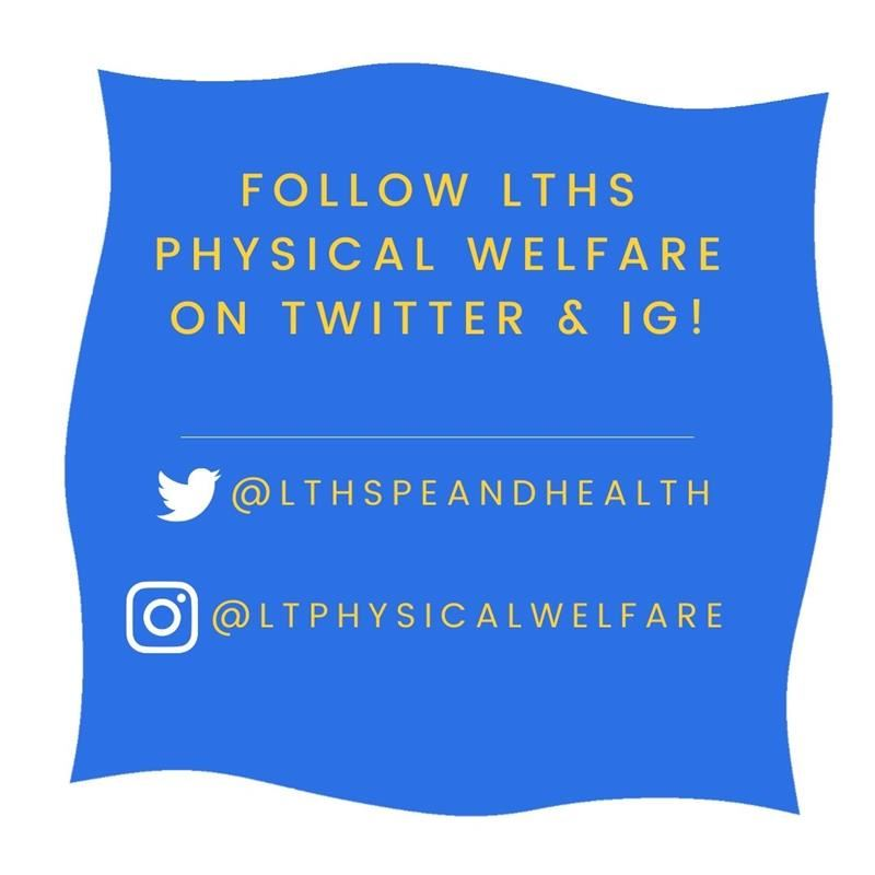 Follow LT Physical Welfare on social media