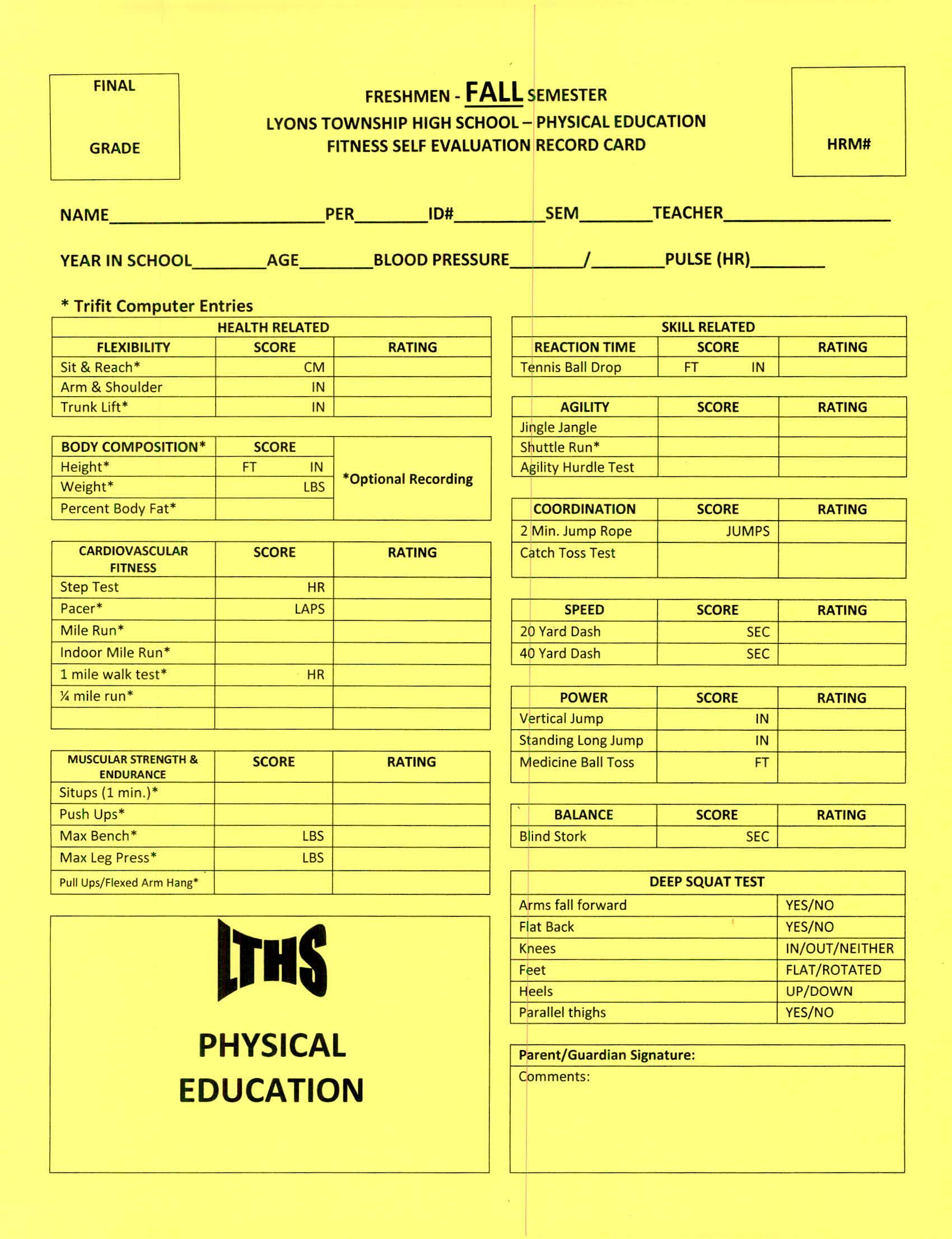 Bryan Bergman Freshmen Physical Education